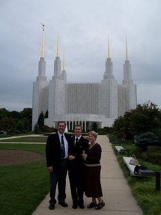 We went  to the Washington DC temple with our son Rob, after his mission.
