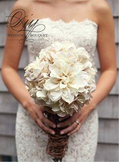 Mum and hydrangea bouquet