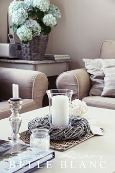 BELLE BLANC coffee table wreath