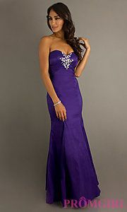 Buy Floor Length Strapless Gown at PromGirl