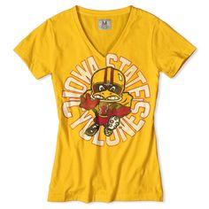 Iowa State Football V-Neck T-Shirt