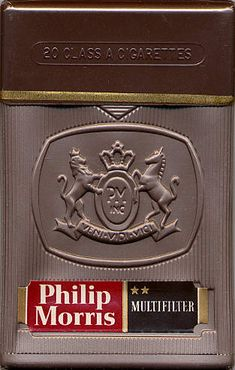 Philip Morris Multifilter 20DF196?  Duty Free Switzerland 1960's  20 pieces with Filter in Plastic Case with Cellophane