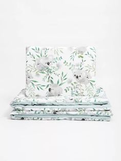 Luxury komplett babaágynemű szett - Mama Koala bársonnyal 95x70 - Oeko Tex 100, Accent Chairs, Velvet, Luxury, Home Decor, Products, Upholstered Chairs, Decoration Home, Room Decor