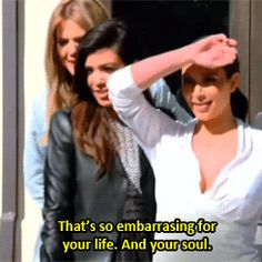 """10 Times Kourtney Kardashian Actually Had A Good Point #refinery29  http://www.refinery29.com/2015/04/85611/kourtney-kardashian-birthday-quotes#slide-9  In response to Kris Jenner's semi-naked photo shoot at the family swimming pool: """"That's so embarrassing for your life. And your soul."""""""