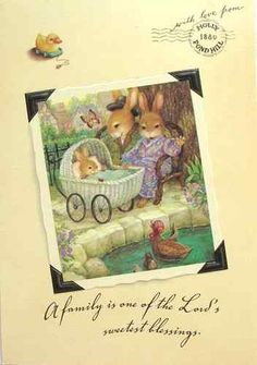 Susan Wheeler Holly Pond Hill Bunny Rabbits' New Baby Carriage Susan Wheeler, Bunny Painting, Art Carte, Cute Baby Bunnies, Clip Art, Baby Carriage, Stories For Kids, Whimsical Art, Illustration Art