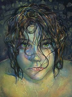 """alife-alive: """" Poison by ~greenfroggies """" Watercolor Portraits, Watercolor Paintings, Watercolor Ideas, Paint Prices, Great Paintings, Traditional Paintings, Pictures To Draw, Portrait Art, Wallpaper"""