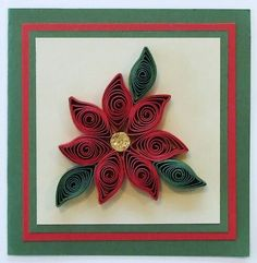 Quilled poinsettia