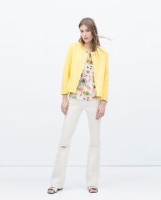 Image 1 of SHORT CREPE JACKET from Zara