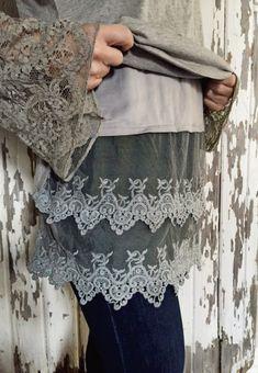 NEW COLORS: Lace bottom Shirt Extenders {Jane Deals}