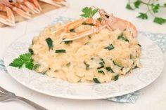 risotto alla crema di scampi e zucchine