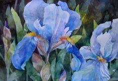Watercolors: Negative shapes. Annelein Beukenkamp