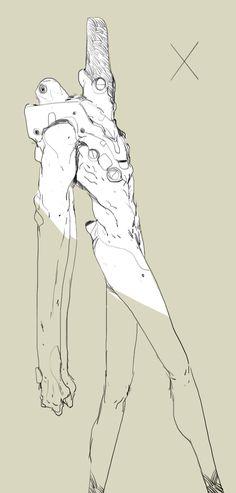 ArtStation - exos 00, Thomas Istepanyan Character Concept, Character Art, Concept Art, Line Artwork, Alien Design, Creative Artwork, Cool Sketches, Character Design References, Creature Design
