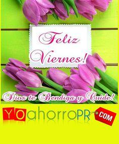 #BuenosDiasATodos Que tengas un Bendecido Viernes, te desea tu Familia de YoAhorroPR.Com !!!!