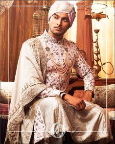 Mens Sherwani, Zardozi Embroidery, Royal Look, Pistachio Green, Men Online, Classic White, Pastel Pink, Pearl White, Sari