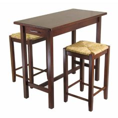 Winsome 3 Piece Counter Height Dining Set -- Find out more about the great product at the image link.Note:It is affiliate link to Amazon.
