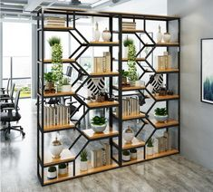 Install a Room Divider Kit or build an expensive wall? Living Room Flooring, Living Room Paint, Living Room Bedroom, Home Decor Bedroom, Living Room Decor, Living Room Partition Design, Room Partition Designs, Living Room Divider, Room Divider Shelves