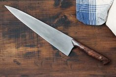 "10"" Walnut Chef Knife w/ a Black Walnut handle"
