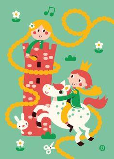 Lovely Rapunzel poster by Bora from www.kidsdinge.com