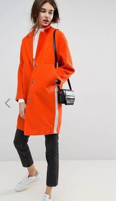 Loving this bright orange coat by ASOS!