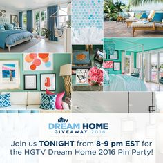 You're Invited: HGTV Dream Home 2016 Pinterest Party « HGTV Dreams Happen: Sweepstakes Blog