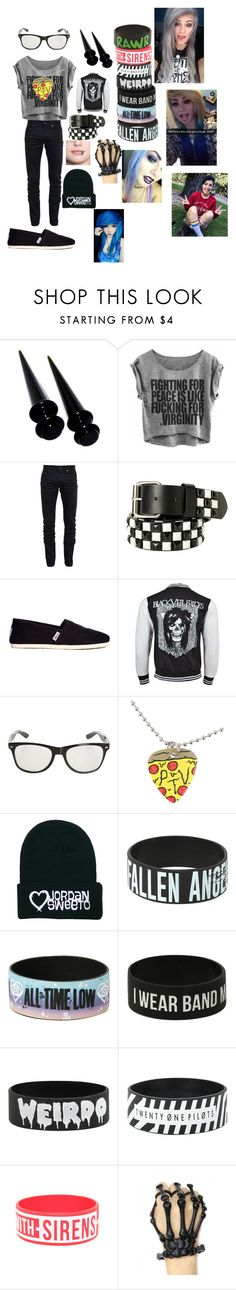 """""""hanging out with heythereimshannon (shannon taylor)"""" by musicmakayla ❤ liked on Polyvore featuring Yves Saint Laurent and TOMS"""