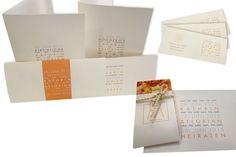 Schlicht, modern und doch gefühlvoll! Diese Hochzeitseinladungen überzeugen in jedem Fall!