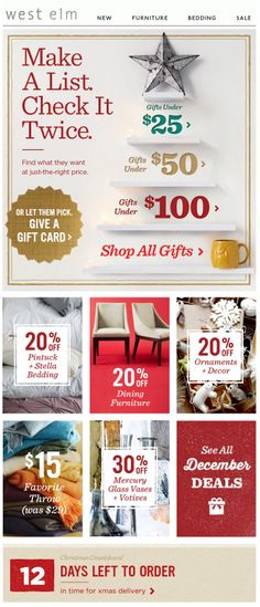West Elm : Gifts By Price