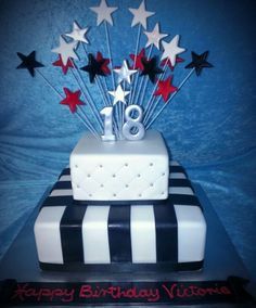 18th birthday cake ideas for guys 18th Birthday Two Tier cake
