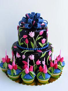 Birthday Cake & Cupcakes