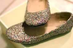 DIY- Glitter Flats. The girls will love this!