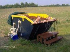 Redneck dumpster pool