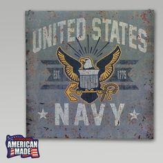 Navy Large Vintage Sign