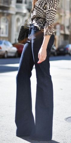 Skinnies are out and wide legged jeans are in.