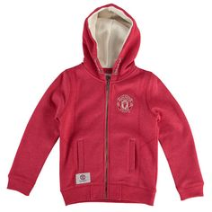 Manchester United Youth Girls Essential Full-Zip Hoodie - Red - $59.99
