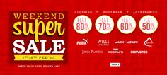 Weekend Super Sale at Snapdeal - Flat 80% OFF on Clothing, Footwear & Accessories  #Snapdeal #Fashion #Apparels #Clothing #Brands #Discount #Shopping #india