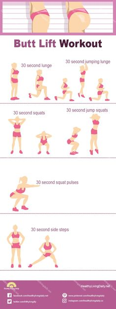 Simple Butt Lift Workout Infographic Do you want a tighter, firmer butt? Check out this infographic to learn the Butt Lift Workout. Bubble Butt Workout, Squat Workout, Gym Workout Tips, Easy Workouts, Workout Videos, Lift Buttocks Workout, Butt Workouts, Leg Butt Workout, Leg Workout With Bands