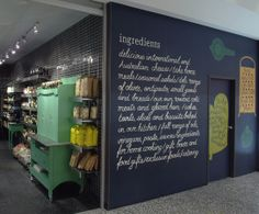 This is a nice idea for the kitchen – treat it like a market. With snacks and such on the shelves. Ingredients Deli, Australia