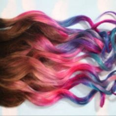 Dip dyed ends. I want to do this to my hair so badly. Too bad the colors fade so fast :( reinadream