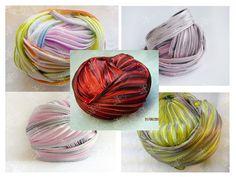 Shibori Ribbon Silk 10 cm Red Green Grey Pink by CreativeRoomKartA