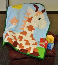 Giraffe baby quilt! LOVE!