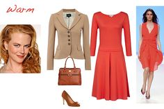 How to wear red warm colouring