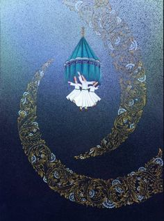 Sufis of Sindh Whirling Dervish, Islamic Art Calligraphy, Persian Calligraphy, Turkish Art, Ottoman, Arabic Art, Art And Architecture, Art Inspo, Art Pieces