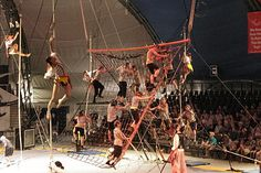 "Historic view of Sarasota's Sailor Circus. Sailor Circus, the longest-running youth circus in America, is an alliance member of Sister Cities of Sarasota.  Sailor Circus now in its sixth decade of operation has grown from a small high school gymnastics class in 1949 to the present spectacular 4-ring youth circus production known world wide as the Greatest ""Little"" Show on Earth. Students from the 4th through 12th grades in Sarasota and surrounding counties perform locally & internationally"