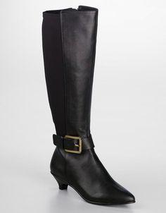 Michael Michael kors Kincade Low-Heel Tall Leather Boots