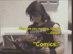 Glenn Danzig reading Wolverine comic He would be a perfect Wolverine/Logan.