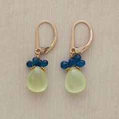 BLUE-GREEN BUNDLE EARRINGS