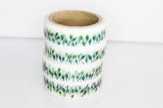 Masking Tape / Washitape Blätter grün von Perlenblitz auf DaWanda.com