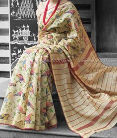 Elegant Maheshwari Silk Saree with Block Printing