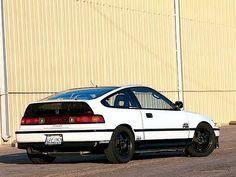 1991 Honda CRX Si, classic white.