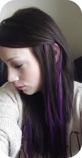 Peekaboo purple highlight